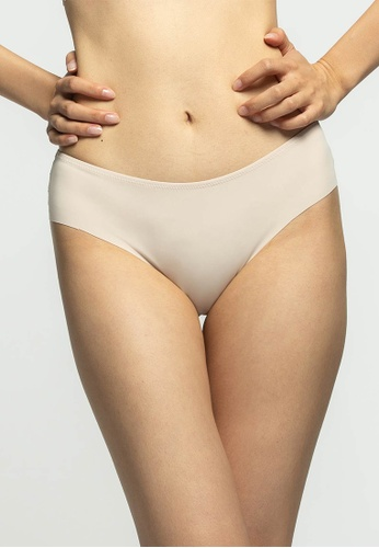 6IXTY8IGHT beige ALLEGRA SOLID, Hipster Panty  PT10974 EB379US702FABFGS_1
