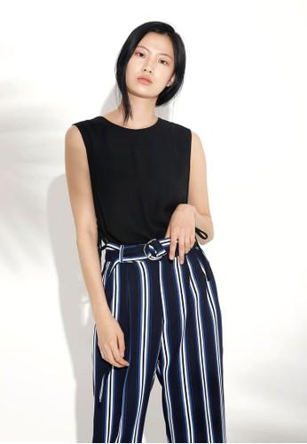 韓系時尚側繫帶無袖esprit outlet 台中上衣, 服飾, 上衣
