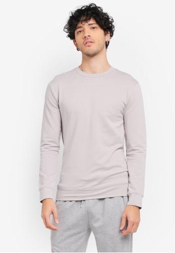 Topman grey Light Grey Ultra Muscle Sweater TO413AA0SR9EMY_1