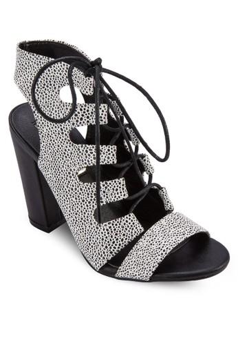 Perla 多帶鏤空粗跟涼鞋,esprit地址 女鞋, 鞋