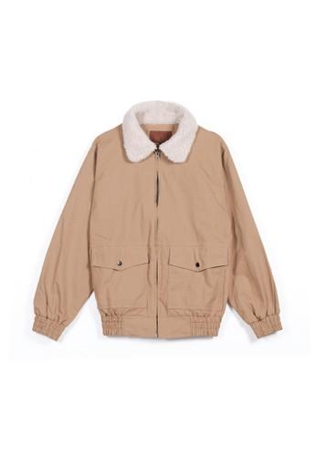 AUTIV.FIXIN brown Fur Cotton Jacket FB1FAAA6458252GS_1