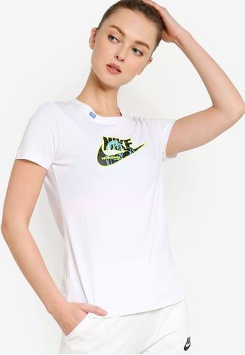 Nike white Sportswear Worldwide 1 T-Shirt 84F3EAA8640DF6GS_1