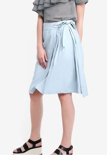 Glamorous blue Side Pleated Skirt GL059AA33AGOMY_1