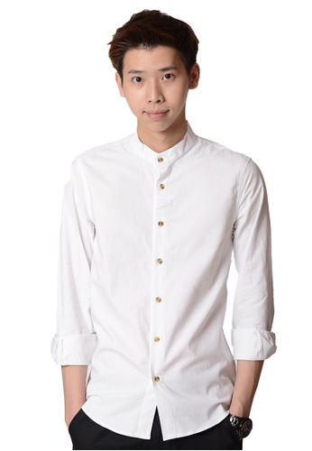 Praise white Long Sleeves Shirt 7DD11AA371F829GS_1