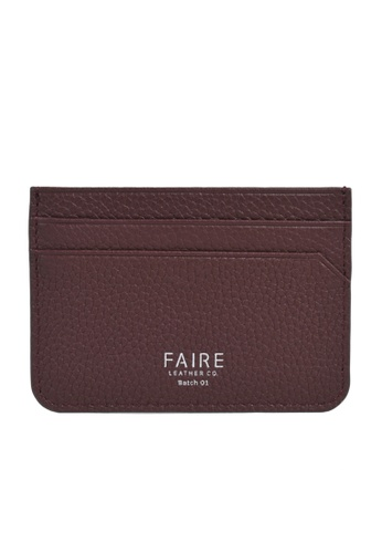 Faire Leather Co. red Specter PG Slim Cardholder (Burgundy) - Slim Leather Wallet 53A43AC9738AFCGS_1