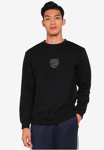 Cotton On black Crew Fleece Sweatshirt 3A1A7AAE5CFAA1GS_1