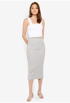 de9678dc3 10% OFF Miss Selfridge Grey Glitter Midi Skirt HK$ 340.00 NOW HK$ 305.90  Sizes 6 8 10 12 14