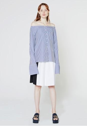 超長袖露肩T-shirt、 服飾、 印花時代recto超長袖露肩上衣最新折價