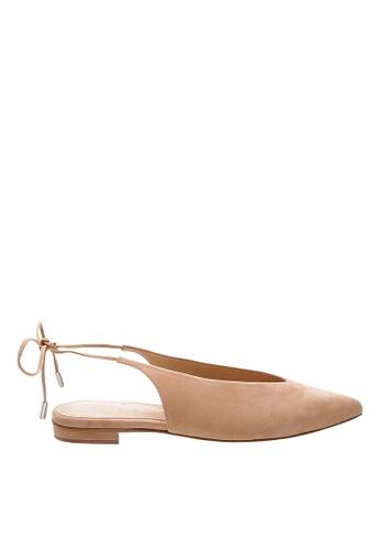 SCHUTZ beige Beige Nubuck Ballerina Shoes - PERCEFI [HONEY BEIGE] 0F9ADSH077BDFAGS_1