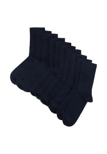 Resteröds navy 5-Pack Bamboo Socks 253BCAA8516B8DGS_1
