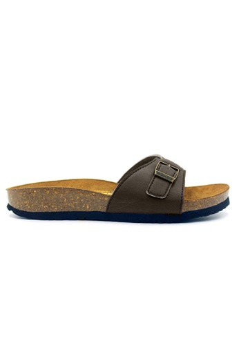 SoleSimple brown Seville - Brown Casual Soft Footbed Flat Slippers C06E3SH88A5A5DGS_1