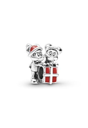 PANDORA red Pandora Disney Mickey Mouse and Minnie Mouse Present Charm 67CFCAC912BB5FGS_1