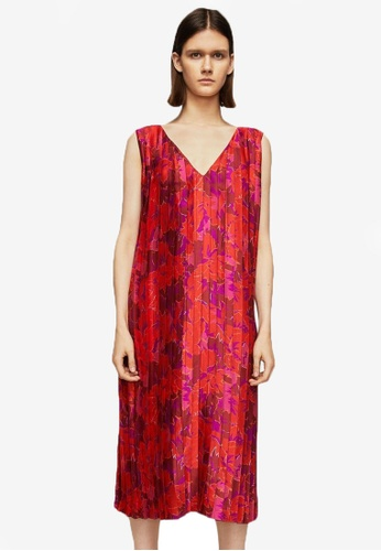 Mango red Premium Pleated Floral Dress MA193AA0ROP1MY_1