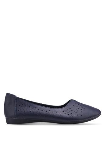 Louis Cuppers 海軍藍色 質感平底鞋 EC72CSH9FD0CC9GS_1