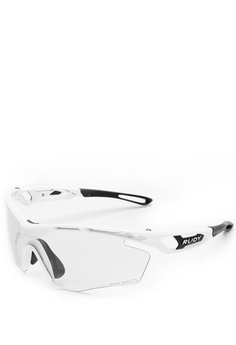 f33f2ac25c Rudy Project. Tralyx Sports Eyewear in White Gloss with Impactx2 with Photo Black  Lenses ...