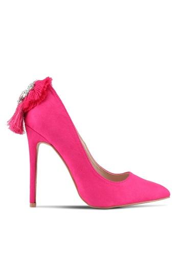 Velvet pink Embellished Heels 4AFE4SH2E0B1EDGS_1