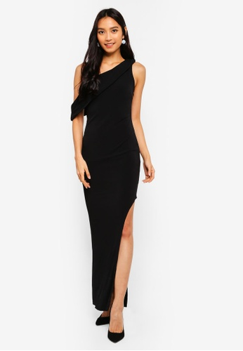d866ddbefdba Shop Preen   Proper Oblique Shoulder Bodycon Maxi Dress Online on ZALORA  Philippines