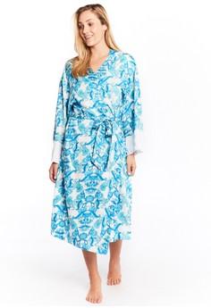 Chantilly 印花長袖睡袍