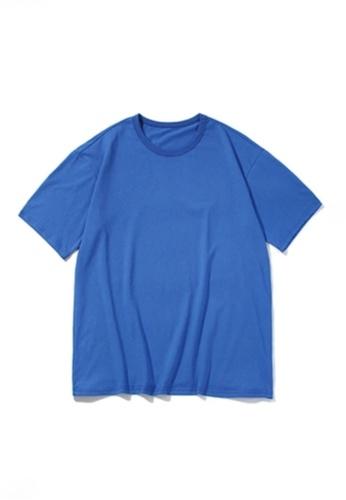 Twenty Eight Shoes blue VANSA Unisex Solid Color Short-sleeved T-Shirt VCU-T223 9538EAA1FD7B4EGS_1
