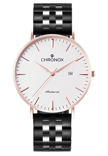 CHRONOX black Chronox CX1002 B1 - Jam Tangan Pria Casual - Tali Stainless  Steel Hitam cf3d9fc4e8