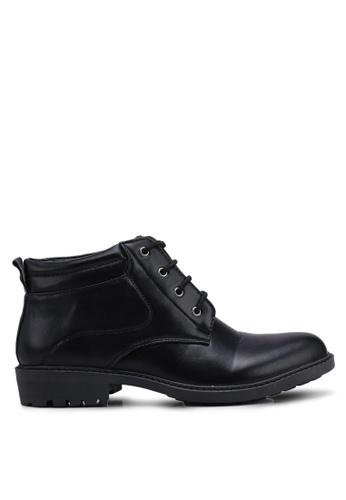 Rocklander black Solid Lace Up Boots 8DC4FSH2577188GS_1
