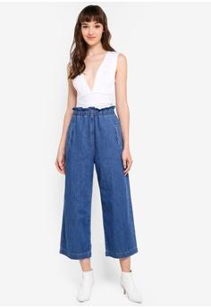 41573334c8a1d6 Miss Selfridge White Slinky Plunge Bodysuit RM 149.00. Sizes 6 8 10 12 14