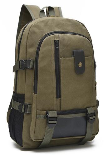 Jackbox green Stylish Unisex Multi Compartment Canvas Backpack 520 (Dark Green) JA762AC11QAEMY_1