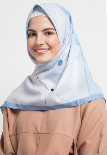 Allea by Itang Yunasz blue and multi Ghiana Scarf A6C47AAA6F5E95GS_1