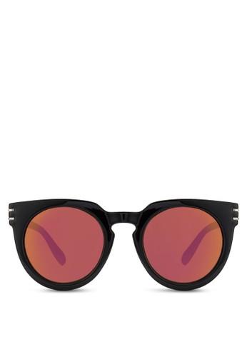 粗框zalora 鞋評價圓形太陽眼鏡, 飾品配件, 飾品配件