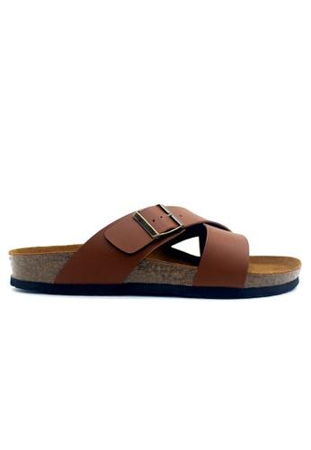 SoleSimple 褐色 Frankfurt - 駱駝色 百搭/搭帶 軟木涼鞋 F0C86SHDD4B538GS_1