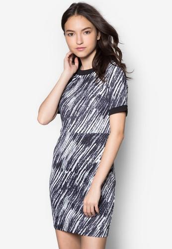 抽象印花連身裙, 服飾, zalora taiwan 時尚購物網服飾