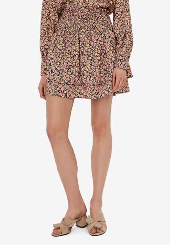 Vero Moda pink Printed Mini Skirt 2BE7AAA8F59A7CGS_1