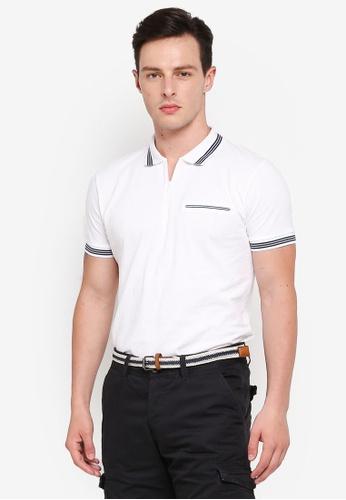ESPRIT white Short Sleeve Polo Shirt 4A480AAD335454GS_1