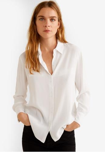 Mango 白色 口袋 飄逸襯衫 DD59FAA3E672CEGS_1