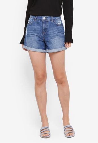 Dorothy Perkins blue Midwash Boy Shorts 4AA74AAEEB146AGS_1