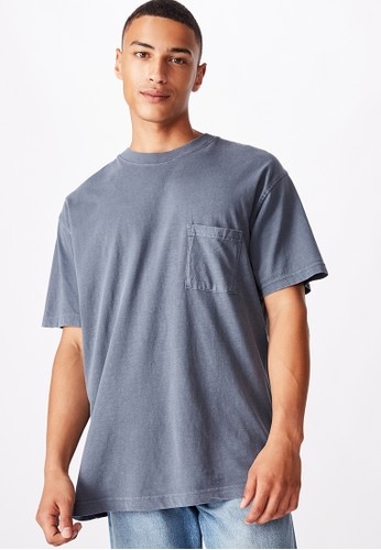 Cotton On blue Loose Fit Washed Pocket Tee 30A30AACB1327AGS_1