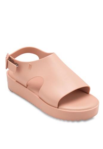 Hotness 寬帶鏤空厚esprit 羽絨外套底涼鞋, 女鞋, 鞋