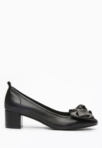 PAZZION black Buckle Bow Pumps F08AESH57A2B62GS_1
