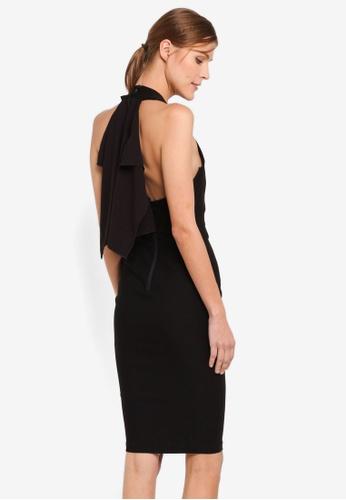 Vesper black Vesper Carlotta Frill Detail Midi Dress VE733AA0SXA5MY_1