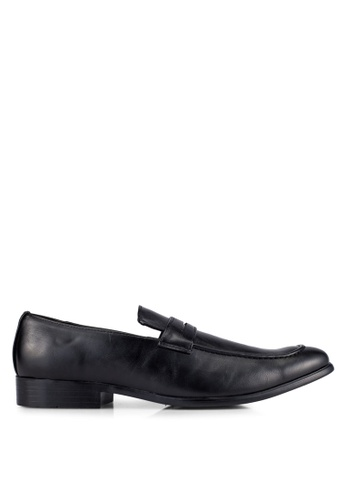 UniqTee black Slip On Dress Shoes UN097SH0S21TMY_1