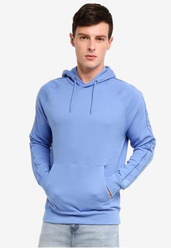 Topman 藍色 休閒帽T 52589AA0F9B675GS_1
