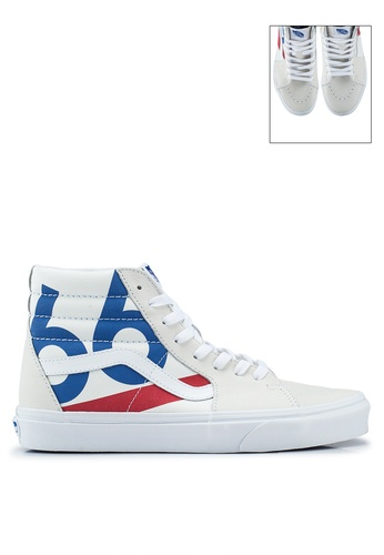 VANS white and multi Sk8-Hi Deck Club Sneakers 3119ASHCE14F13GS_1