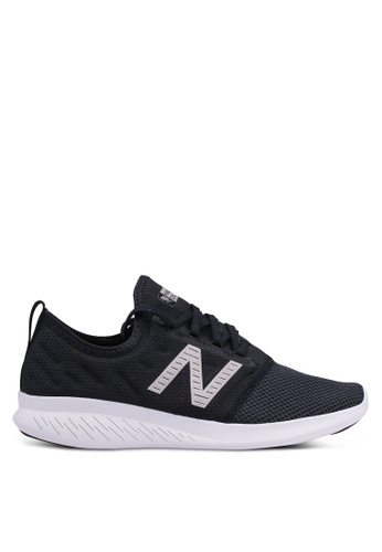 New Balance black and white Coast Fitness Running Lace Shoes 7B3B0SH786C9D2GS_1