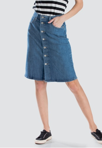 e8bee2c5af Levi's blue Levi's A-Line Midi Button Skirt Women 72980-0000  56FFAAAB065590GS_1