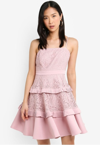 Forever New pink Angel Strappy Spliced Lace Dress C64C2AA1CFF22EGS_1