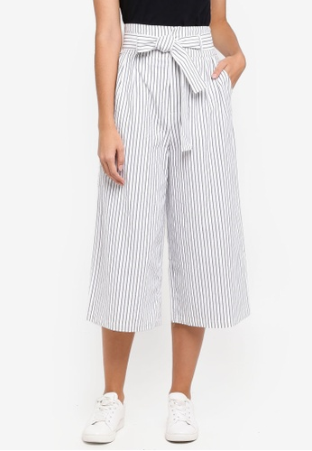 ZALORA multi High Waisted Culottes With Self Tie 586CFAA66908EBGS_1