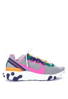 big sale 4a398 bb7a1 Nike grey Nike React Element 55 Shoes 14C9ESHAB42C17GS 1
