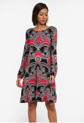 Wallis red Berry Paisley Swing Dress WA800AA0SACQMY_1