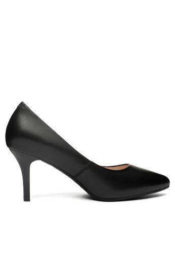 Twenty Eight Shoes black 7CM Leather Uniform Pointy Pumps 2104-1 2AB4DSH0DF773FGS_1