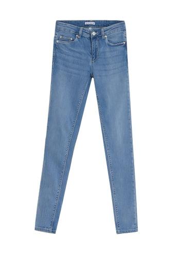 Electro Denim Lab blue Stardust Mid Rise Skinny Jeans 9F839AA1F92FF4GS_1